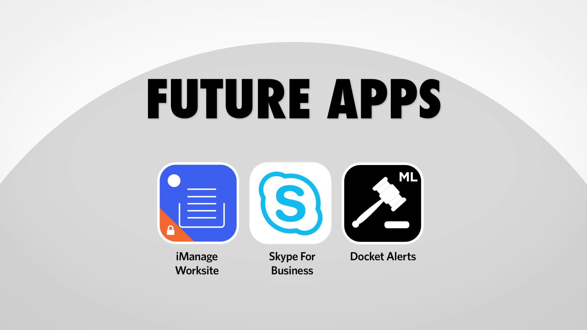 Morgan Lewis: Future Apps