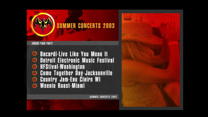 Bacardi Summer Concert 2003
